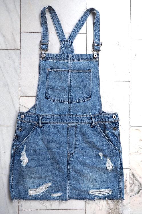 H&M Denim Dungarees Skirt
