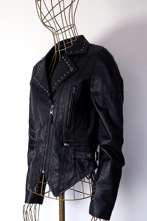 PEPE JEANS Studded Leather Jacket
