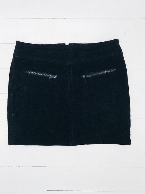 Leather Canvas Mini Skirt