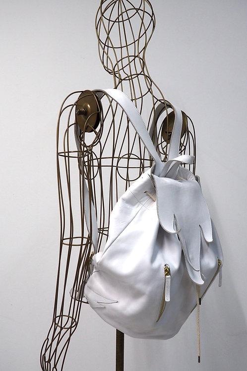 NANUSHKA White Leather Backpack