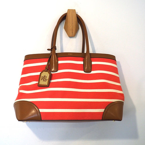 RALPH LAUREN Canvas/Leather Handbag