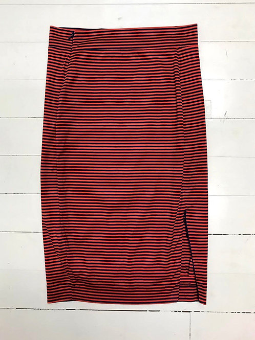Twenty8twelve Striped Skirt with Zippers