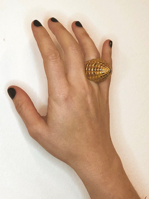 Golden Statement Ring