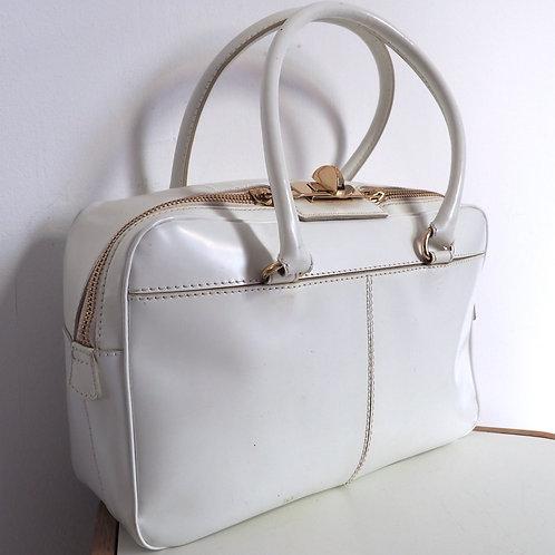 MaxMara White Leather Handbag