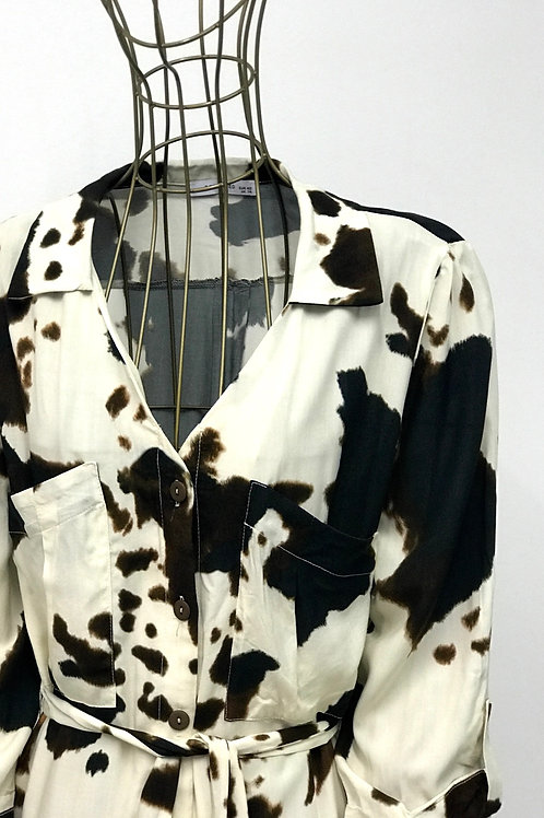 RESERVED Spotted Shirtdress