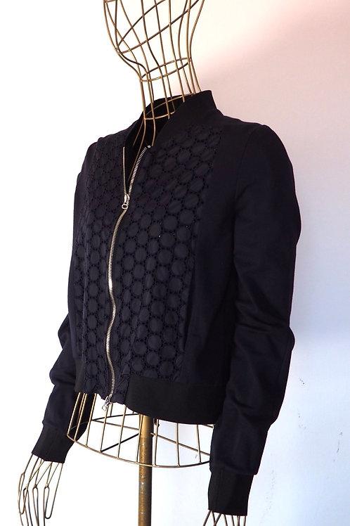NUBU Navy Crochet Jacket