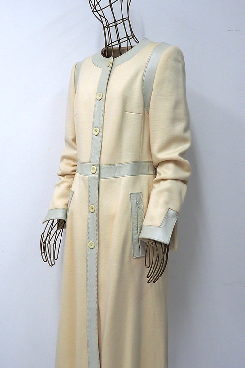 WOLFORD Leather/Woven Trenchcoat