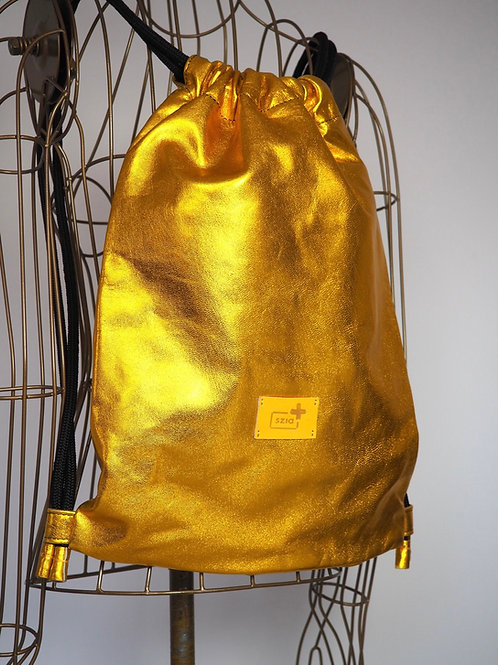 SZIA+ Golden Leather Backpack