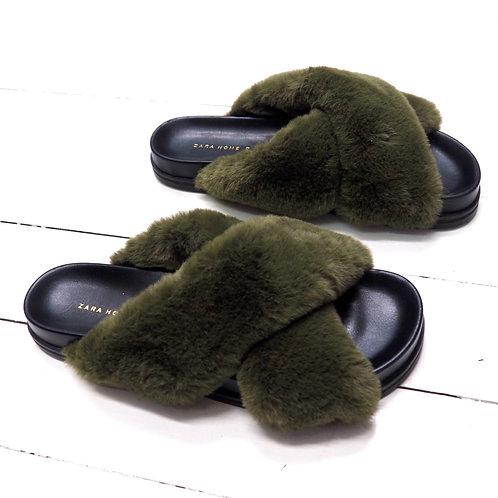 ZARA HOME Faux Fur Slippers