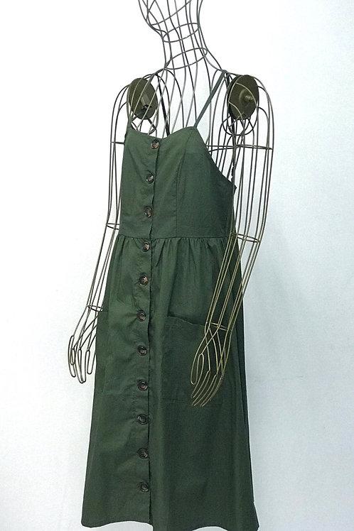 Linen Dress with Buttons