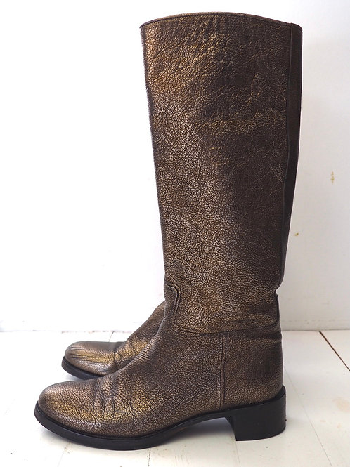 PRADA Bronze Boots