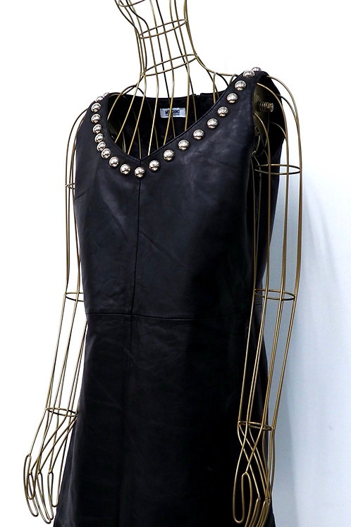 MOSCHINO Studded Leather Dress