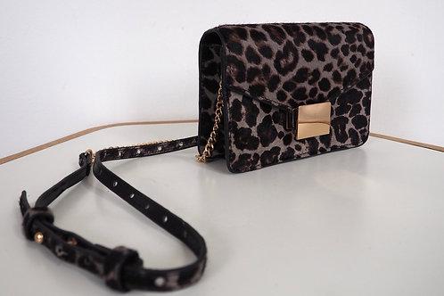 MANGO Leopard Crossbody Minibag