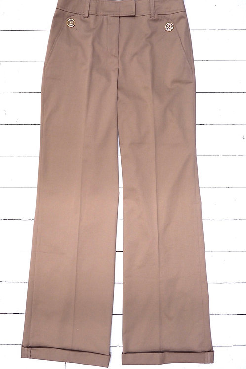 INTREND Beige Pants with Golden buttons
