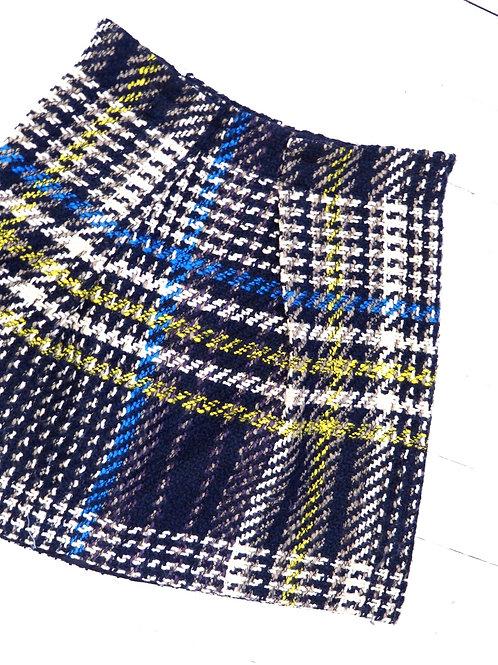 PATRIZIA PEPE Tartan Wool Skirt