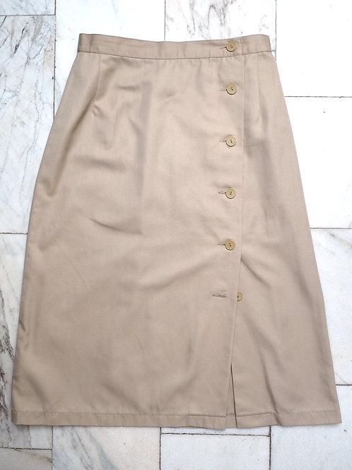 VINTAGE Asymmetric Buttoned Skirt