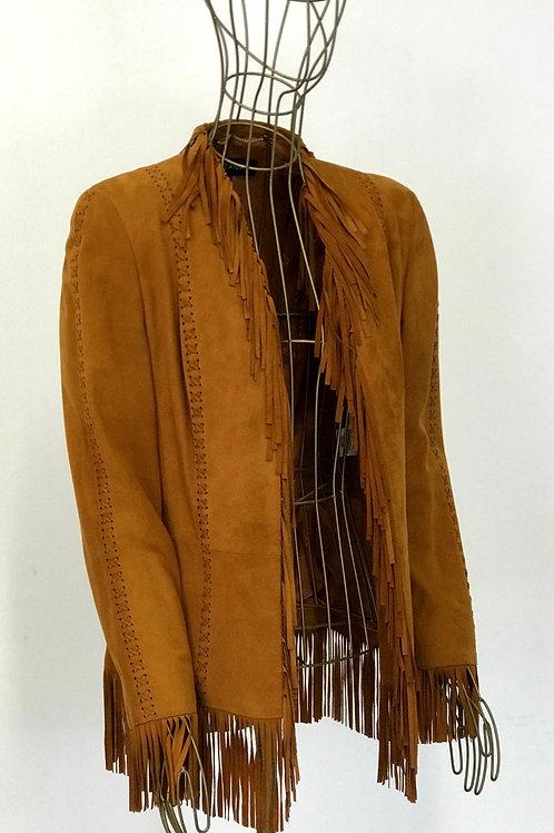 Escada Fringe Leather Jacket