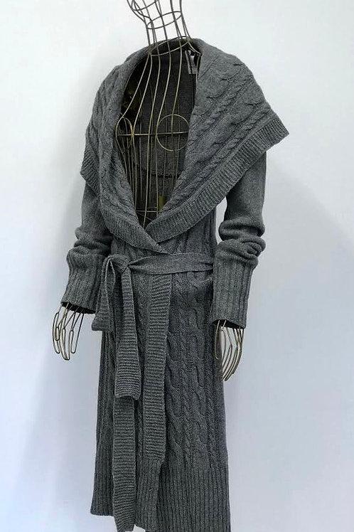 Patrizia Pepe Grey Knitted Cardigan