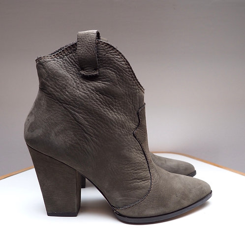 ZARA Grey Leather Ankleboots