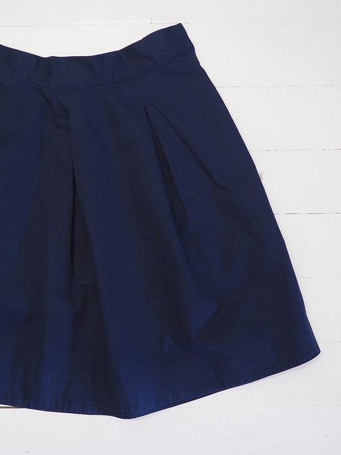 COS Dark blue A-line Skirt