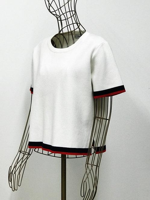 Zara Knit Contrast Top