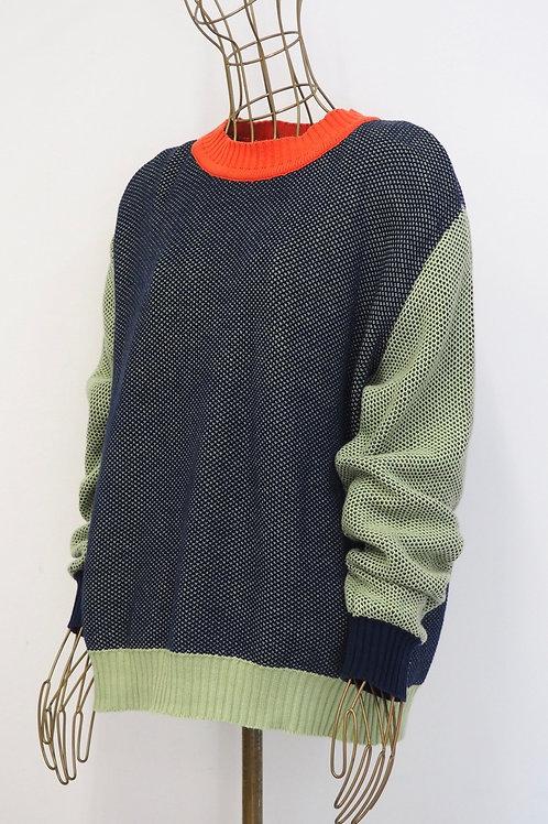 KELE CLOTHING Contrast Sweater