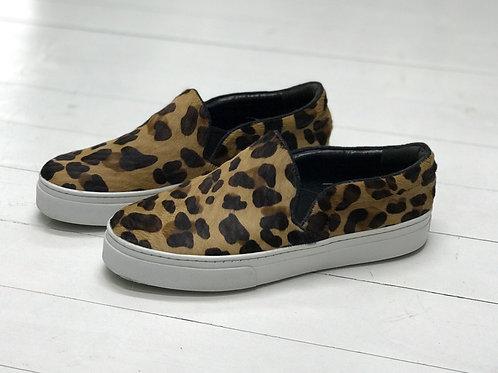 SCHUTZ Leopard Fur Slip On