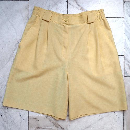 VINTAGE Yellow Bermuda Pants