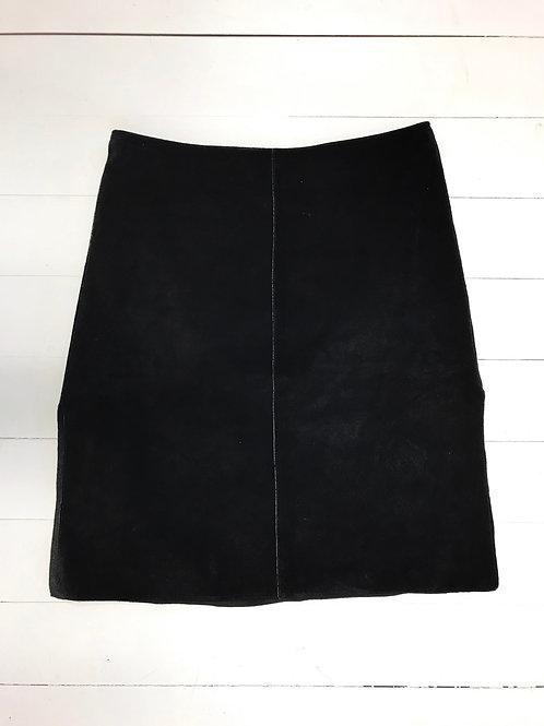 Bebe Black Suede Skirt
