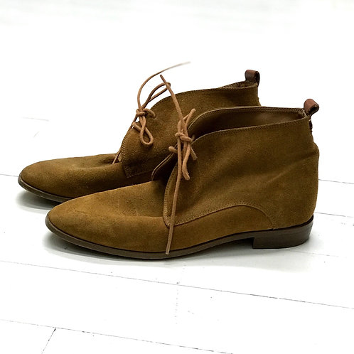 Mango Suede Lace up Ankleboots