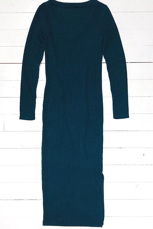 Deepgreen Ribbed Bodycon Dress