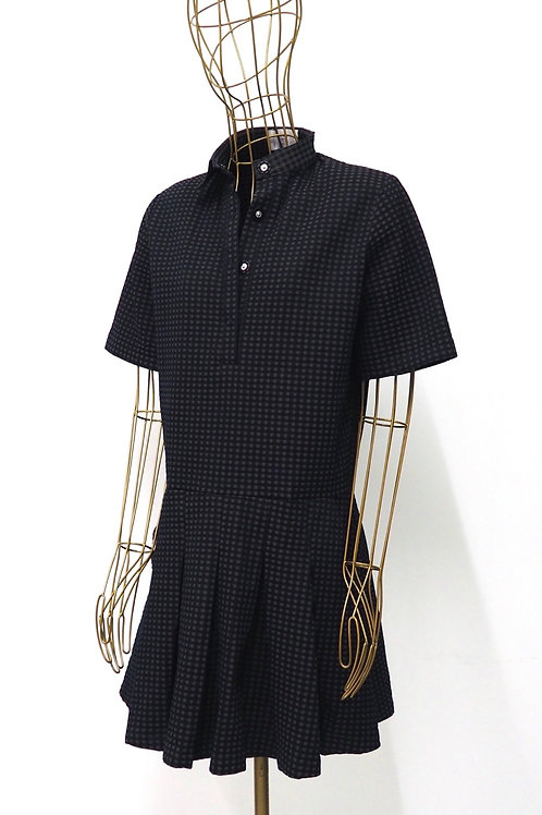 USE UNUSED Checked Shirtdress