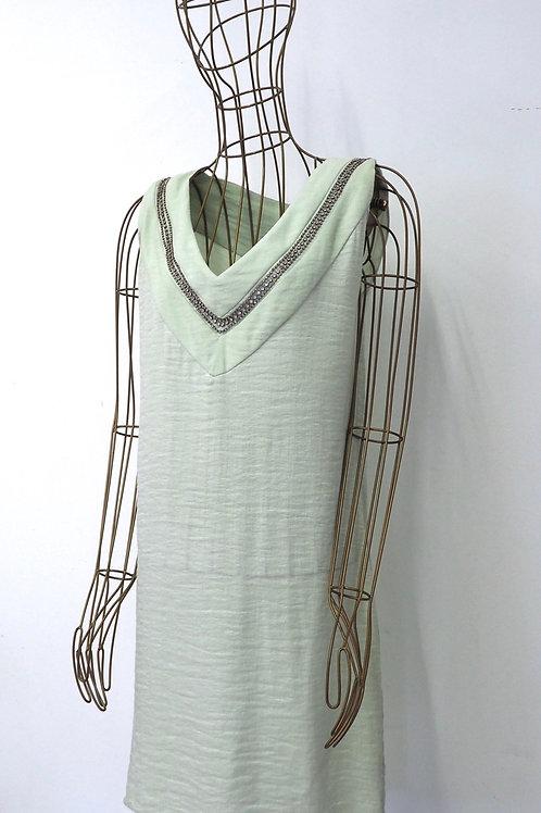JE SUIS BELLE V-neck Dress with Glitter