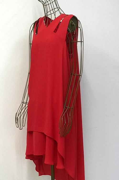 BCBG MAXAZRIA Coral Layered Dress