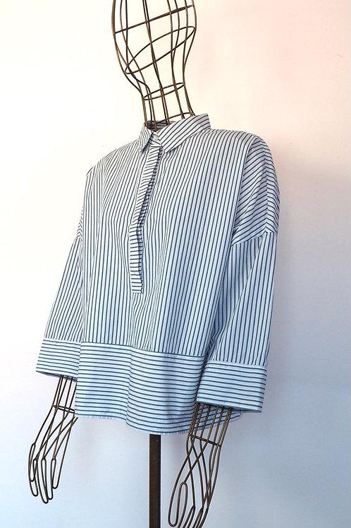 BENETTON Striped Loose Shirt