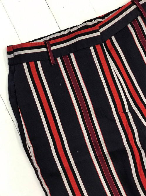 H&M Blue/Red Striped Pants