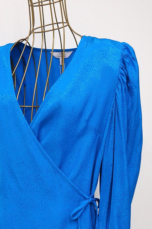 &OTHERSTORIES Electricblue Wrap Top