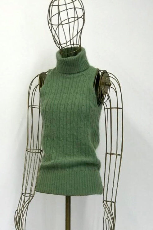 Benetton Green Sleeveless Sweater