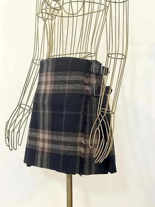 Burberry wool skirt with leather