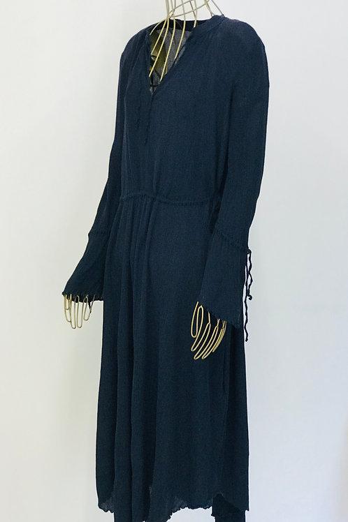 Crepe Deepblue H&M Dress