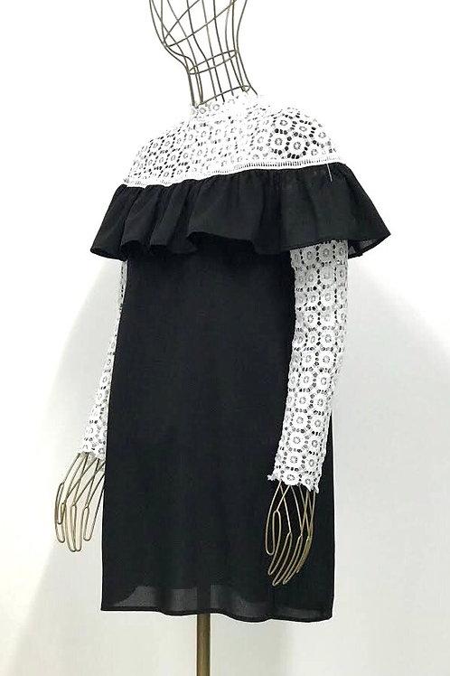 Club London Ruffle Lacy Dress