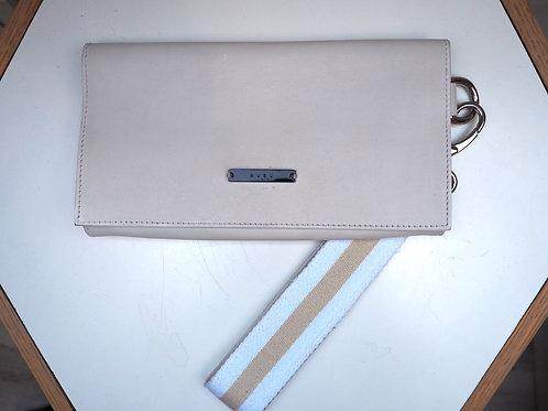NUBU White Leather Clutch