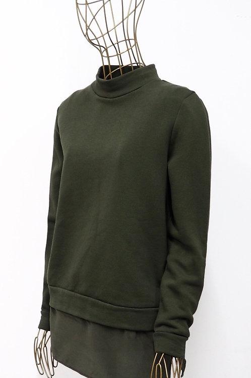 COS Khaki Sweater with Silk Bottom