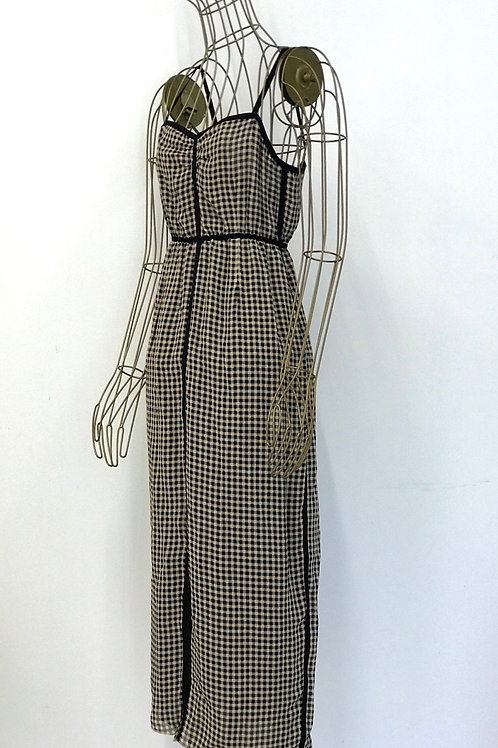 NANUSHKA Asymmetric Checked Dress