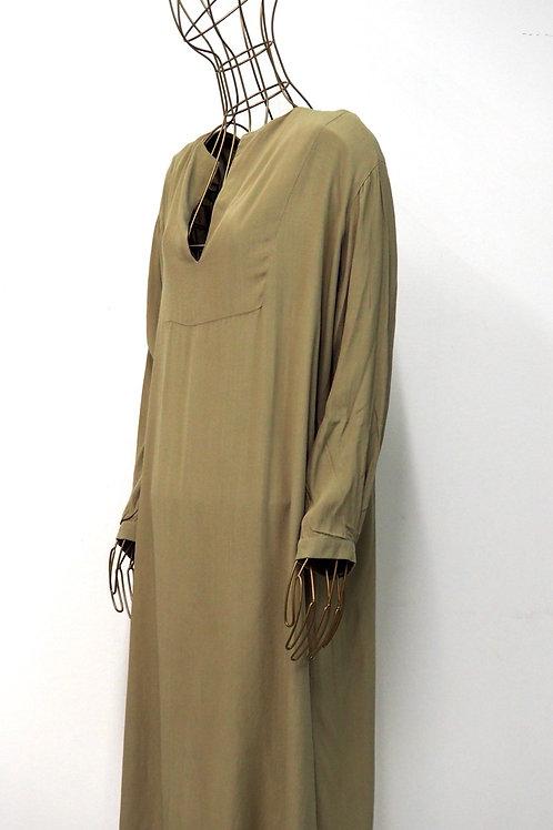 NUDE BY NUBU Beige Shirtdress
