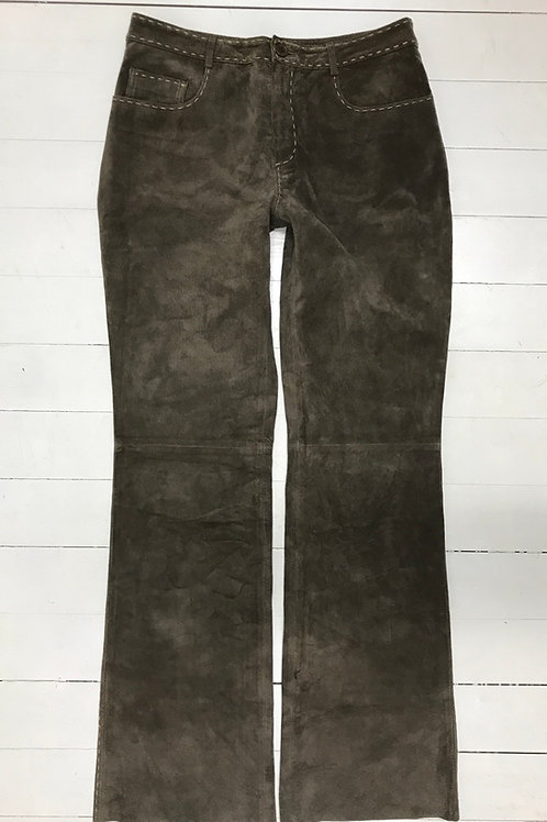 Promod Graybrown Leather Pants