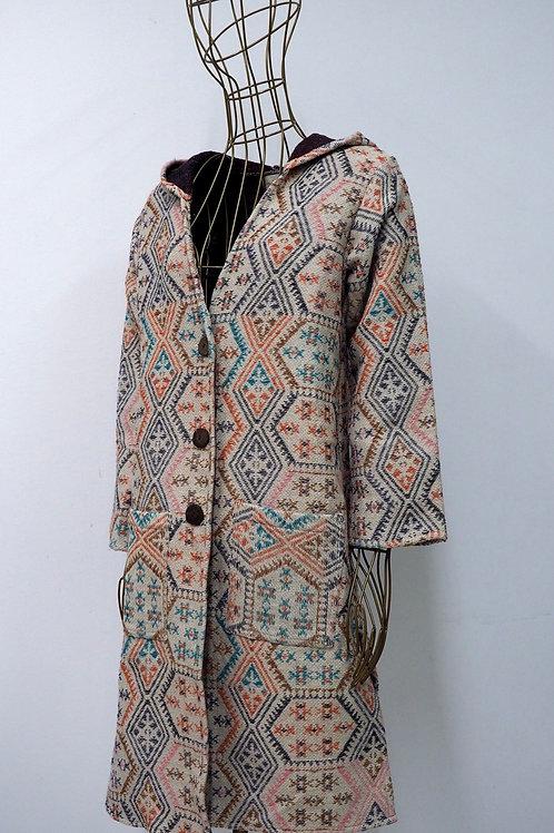 KAMALA KAFTAN Woven Tribal Jacket