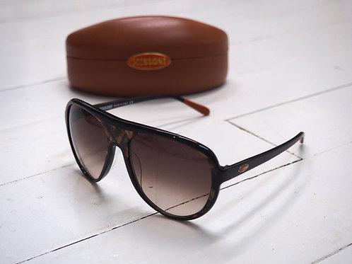 MISSONI Brown Pilot Sunglasses with Nacre