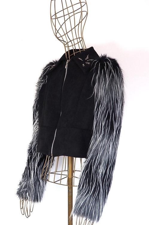 ANNAEVA Furry Sleeved Jacket