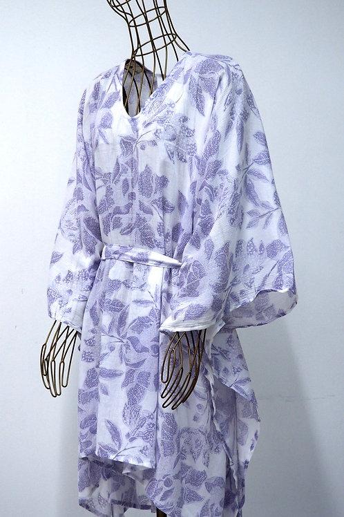 KAMALA KAFTAN Patterned Poncho Dress